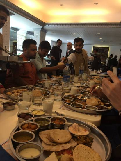 More Thali. This time with lot's of people.