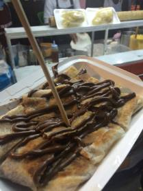 A crepe with Nutella. Not very Thai. Delicious nonetheless.