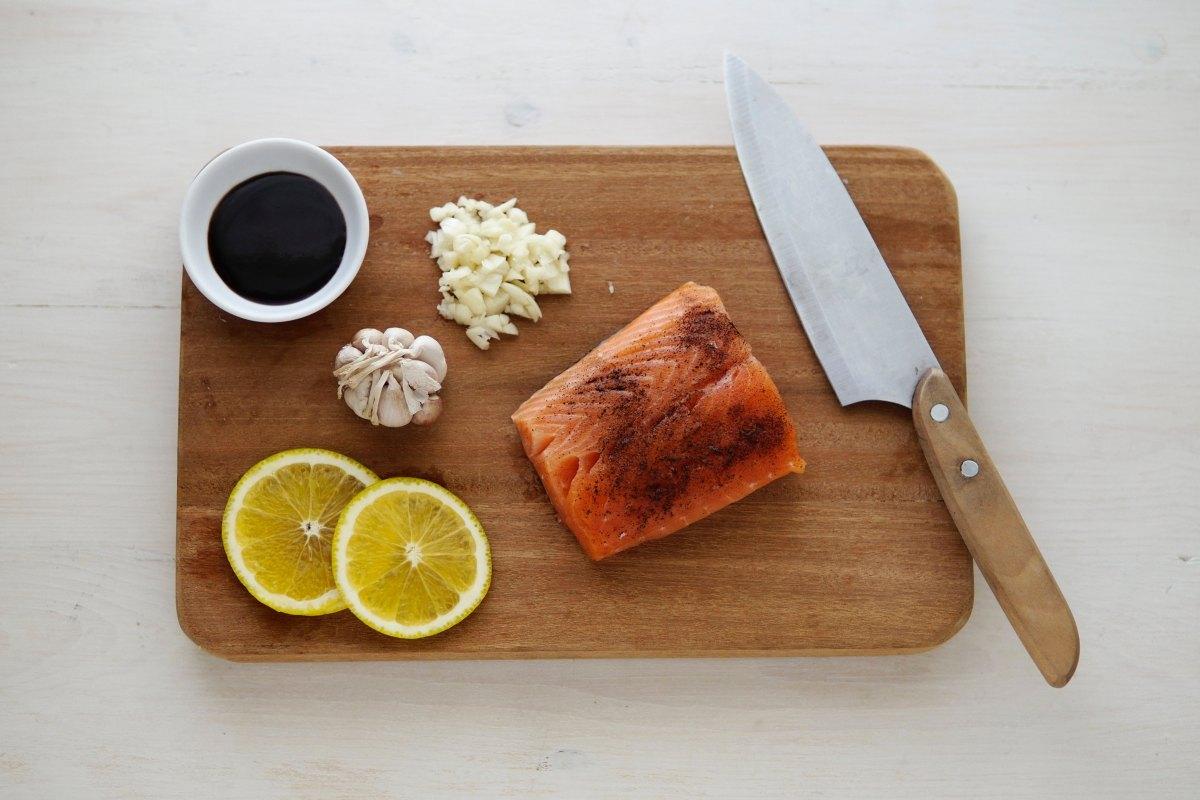 Lemon and Grapefruit GrilledSalmon